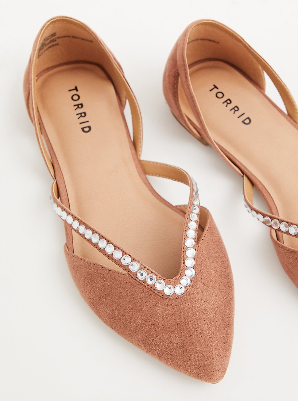 Blush Rhinestone Pointed Flat (WW), TAN/BEIGE, hi-res