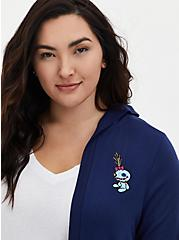 Disney Lilo & Stitch Scrump & Stitch Navy Hooded Cardigan, MEDEVIAL BLUE, alternate