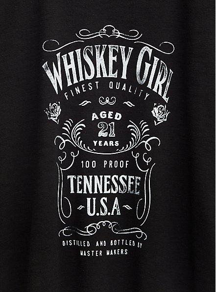Whiskey Girl Classic Fit Crew Tee - Slub Black, DEEP BLACK, alternate