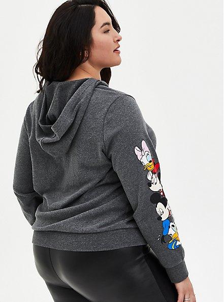 Disney Mickey & Friends Grey Lace-Up Hoodie, MEDIUM HEATHER GREY, alternate