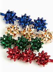 Holiday Bow Multicolor Hair Clip Set - Set Of 4, , alternate