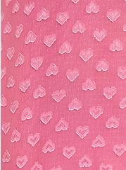 Pink Heart Clip-Dot Mock Neck Tank, AZAELEA PINK, alternate