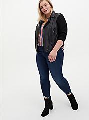 Ava - Multi Stripe Stretch Challis Cami, STRIPE - BLUE, alternate