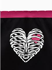 Black Rib Cage Heart Seamless Hipster Panty, , alternate