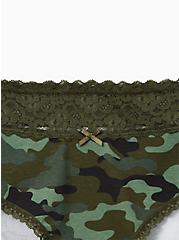 Camo Wide Lace Cotton Cheeky Panty, , alternate