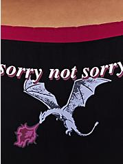 Sorry Not Sorry Dragon Black Seamless Hipster Panty, , alternate