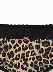 Leopard Wide Lace Cotton Brief Panty , , alternate