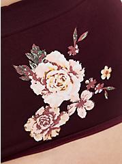 Radiate Positivity Burgundy Purple Floral Seamless Brief Panty, RADIATE ROSES, alternate
