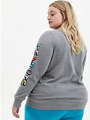 Peanuts Grey Crew Neck Sweatshirt, MEDIUM HEATHER GREY, alternate