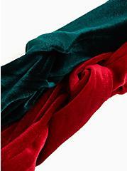 Red and Green Velvet Soft Headband Pack - Pack Of 2, , alternate