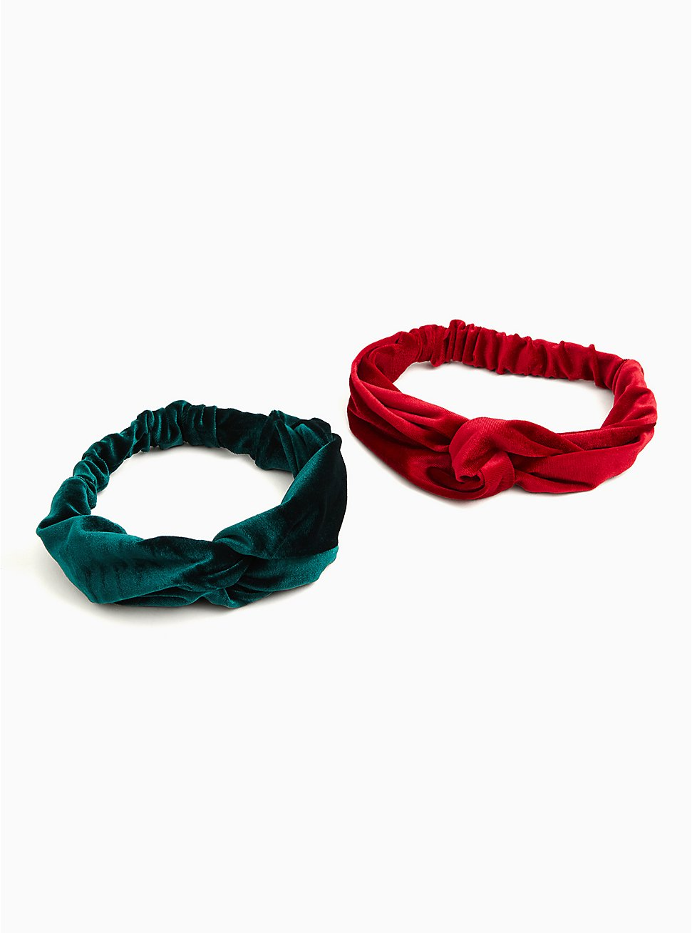 Red and Green Velvet Soft Headband Pack - Pack Of 2, , hi-res
