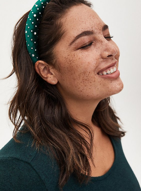Plus Size Green Sparkle Headband, , hi-res