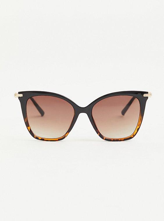 Tortoiseshell Cat-Eye Ombre Sunglasses, , hi-res