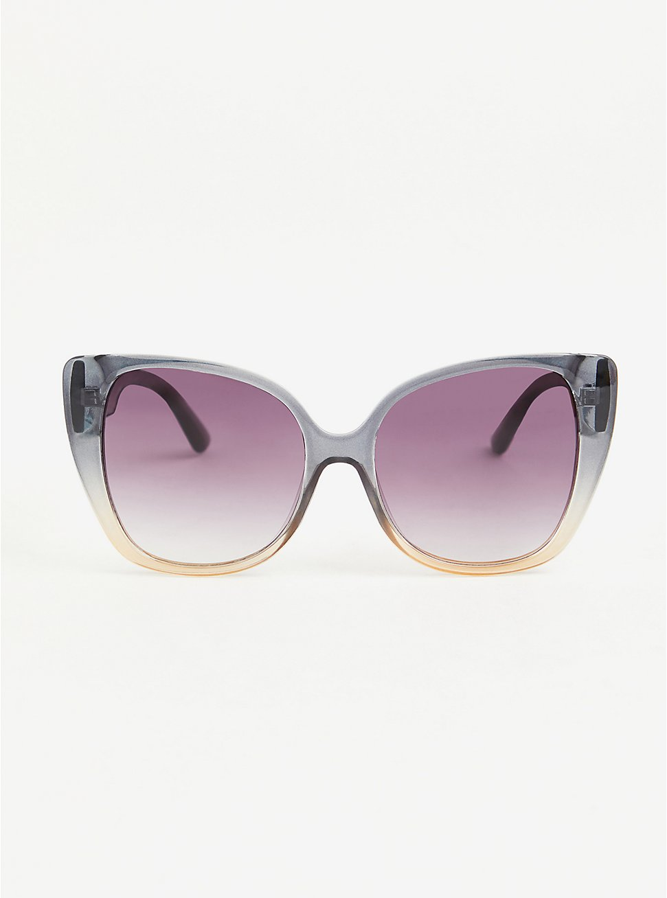 Grey and Blush Ombre Cat Eye Sunglasses, , hi-res