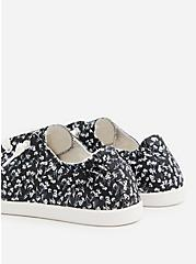 Riley - Black Floral Ruched Sneaker, GREY, alternate