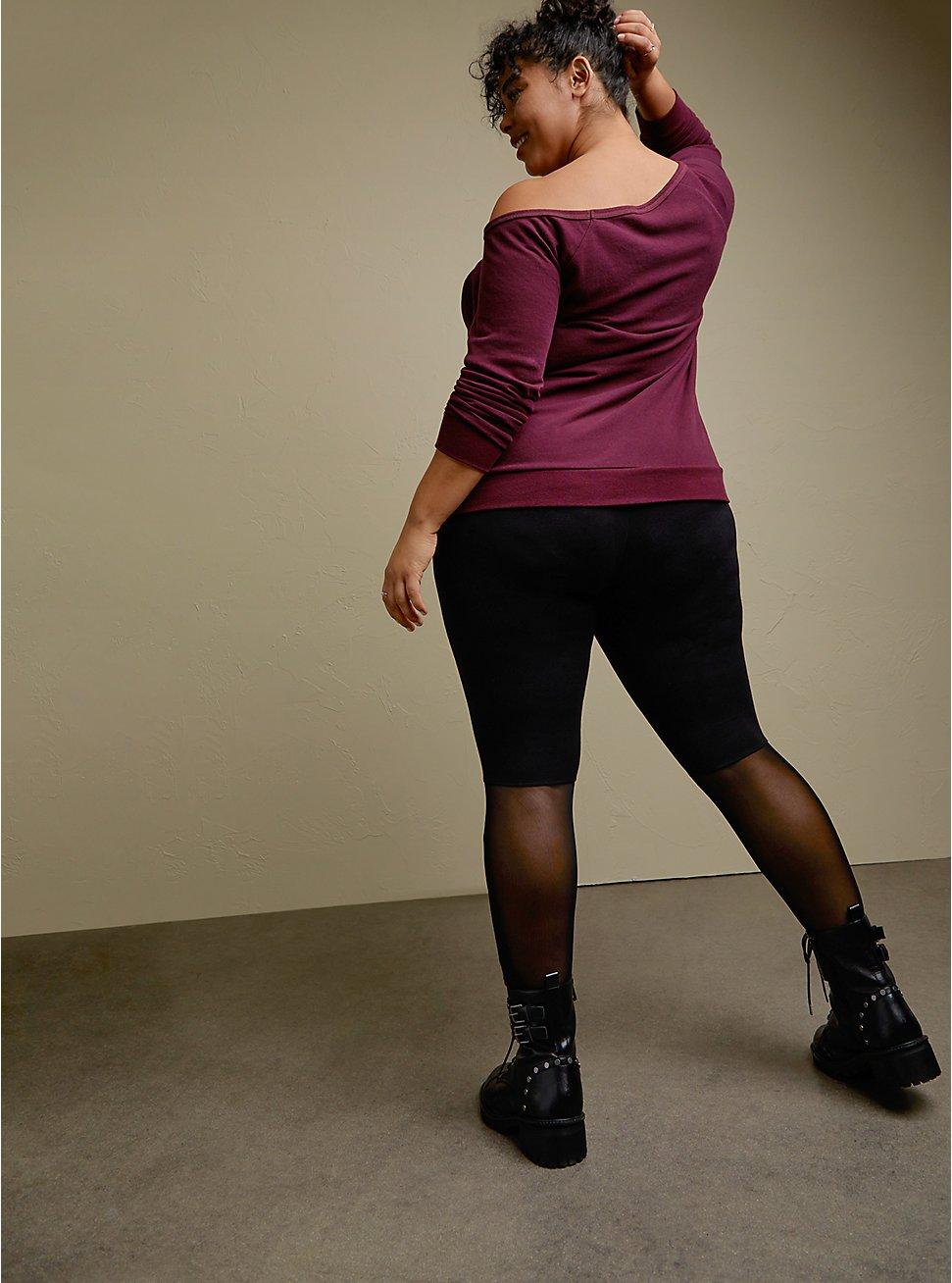 Premium Legging - Mesh Back Panel Black, BLACK, hi-res