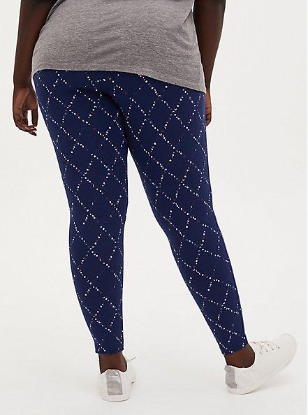 Premium Legging - Dotted Diamond Navy, BLUE, alternate