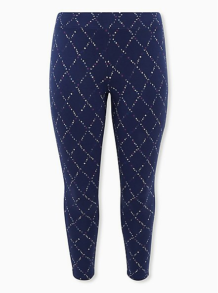 Premium Legging - Dotted Diamond Navy, BLUE, hi-res