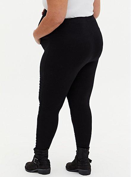 Maternity Legging - Moto Black, BLACK, alternate