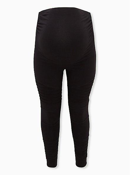 Maternity Legging - Moto Black, BLACK, hi-res