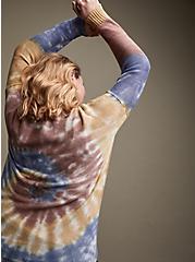Rainbow Tie-Dye Cotton Pullover Sweater, MULTI, alternate