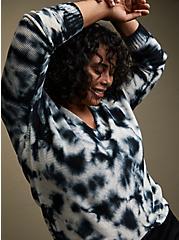 Black Tie-Dye Cotton Pullover Sweater, MULTI, hi-res