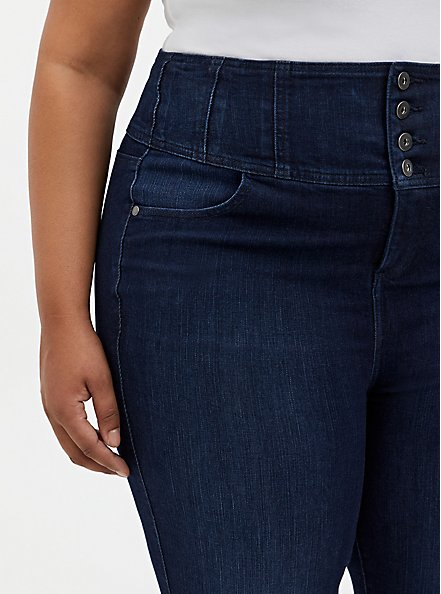 Corset Skinny Jean - Premium Stretch Dark Wash, CANARY WHARF, alternate