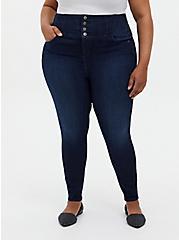 Corset Skinny Jean - Premium Stretch Dark Wash, CANARY WHARF, hi-res