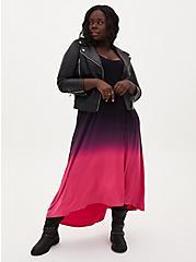 Super Soft Neon Pink Dip-Dye Hi-Lo Maxi Dress, PINK OMBRE, hi-res