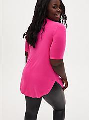 Super Soft Neon Pink Favorite Tunic Tee, PINK GLO, alternate