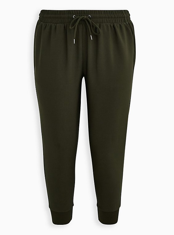 Relaxed Fit Jogger - Dressy Twill Forest Green , , flat