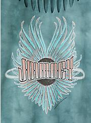 Journey Teal Tie-Dye Cotton Slashed Tee, JUNEBUG, alternate