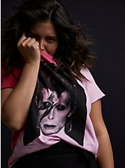 David Bowie Classic Fit Tee - Red & Pink Tie-Dye, RED, hi-res
