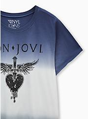 Crew Tee - Bon Jovi Dip-Dye Navy, BRIGHT WHITE, alternate