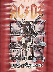 AC/DC Slashed Tee - Tie-Dye Red, RED, alternate