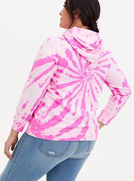 Sublime Hot Pink Tie-Dye Fleece Hoodie, HOT PINK, alternate