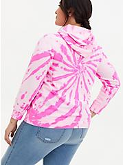 Sublime Hot Pink Tie-Dye Fleece Hoodie, HOT PINK, alternate