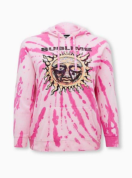 Sublime Hot Pink Tie-Dye Fleece Hoodie, HOT PINK, hi-res