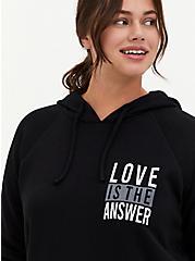 Love Is The Answer Black Fleece Hoodie, DEEP BLACK, alternate