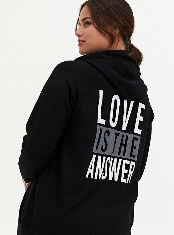 Love Is The Answer Black Fleece Hoodie, , hi-res