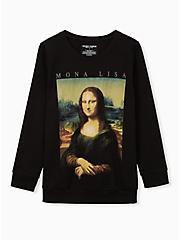 Mona Lisa Black Sweatshirt , DEEP BLACK, hi-res