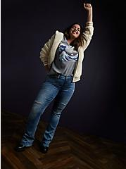 Plus Size The Great Wave Heather Grey Sweatshirt, MEDIUM HEATHER GREY, alternate