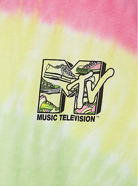 MTV Classic Fit Ringer Tee - Multi Tie-Dye, MULTI, alternate
