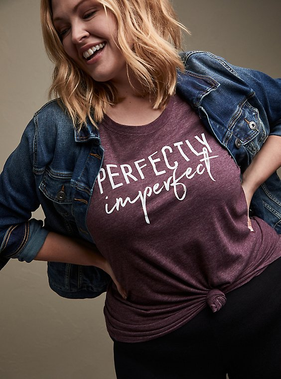 Perfectly Imperfect Slim Fit Crew Tee -  Triblend Burgundy Purple, WINETASTING, hi-res