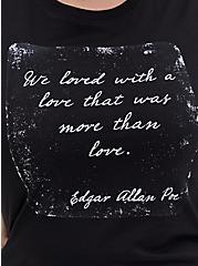 Edgar Allan Poe Slim Fit Crew Tee - Black, DEEP BLACK, alternate