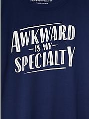 Awkward Is My Specialty Slim Fit Crew Tee - Navy, PEACOAT, alternate