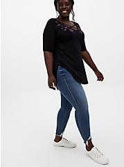 Favorite Crisscross Tunic - Super Soft Stars Black, DEEP BLACK, alternate
