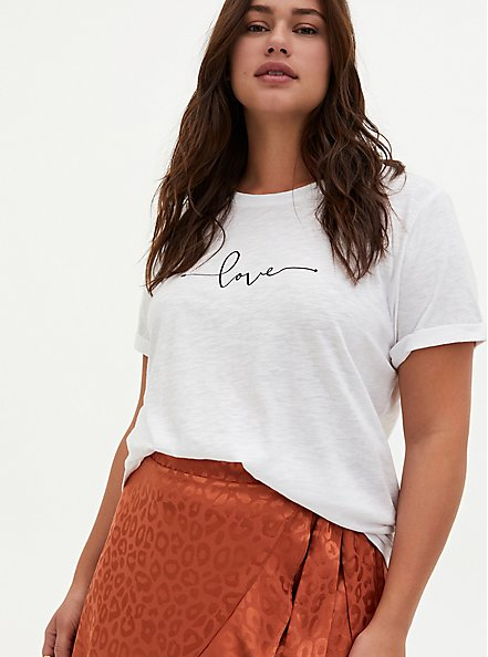 Relaxed Tee - Heritage Slub Love White, BRIGHT WHITE, alternate
