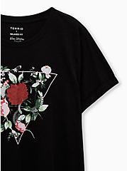 Relaxed Tee - Heritage Slub Geo Botanical Black, DEEP BLACK, alternate