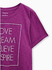 Relaxed Tee - Heritage Slub Love Inspire Berry Pink, PURPLE, alternate